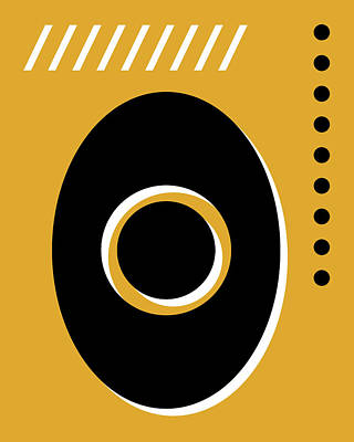 Royalty-Free and Rights-Managed Images - Number Zero - Pop Art Print - Yellow by Studio Grafiikka
