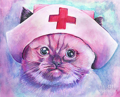 Royalty-Free and Rights-Managed Images - Nurse Kitty by Michael Volpicelli