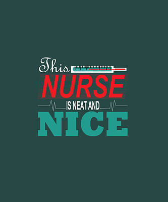 Curated Beach Towels - Nurse Nice_Transpernt_PNG by Celestial Images