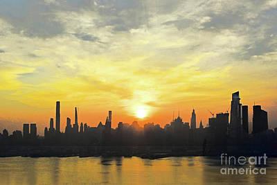 Keith Richards - NYC Misty Morning Sunrise by Regina Geoghan