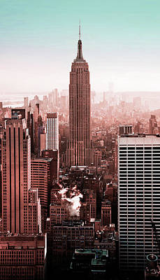 Surrealism Royalty-Free and Rights-Managed Images - NYC Skyline, New York, United States 5 - Surreal Art by Ahmet Asar by Celestial Images