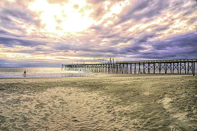 Photograph - Oak Island Beach at Dusk by Don Margulis