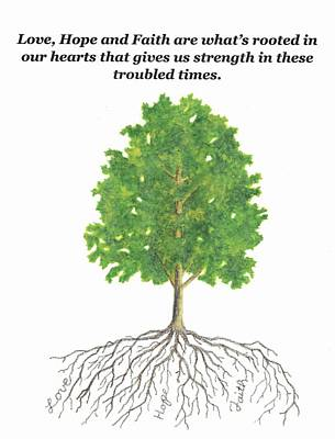 Achieving - Oak Tree with Inspirational Verse by Michael Vigliotti