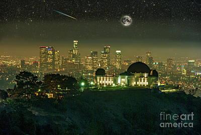 American Milestones - Observatory Cityscape Night Vista by David Zanzinger