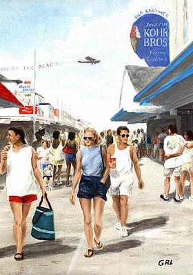 Painting - Oc Boardwalk by G Linsenmayer