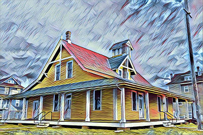 Surrealism Royalty-Free and Rights-Managed Images - Ocean City Life-Saving Station by Surreal Jersey Shore