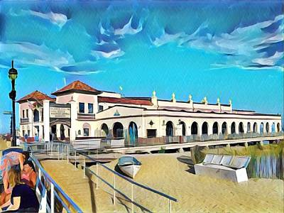 Surrealism Royalty-Free and Rights-Managed Images - Ocean City Music Pier by Surreal Jersey Shore
