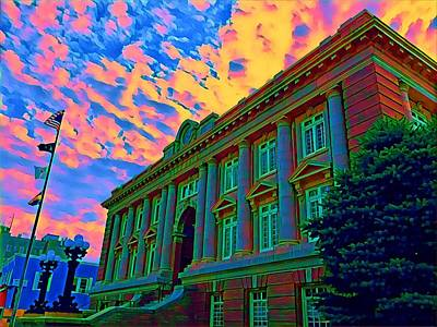 Surrealism Royalty-Free and Rights-Managed Images - Ocean City NJ.City Hall at sunset by Surreal Jersey Shore