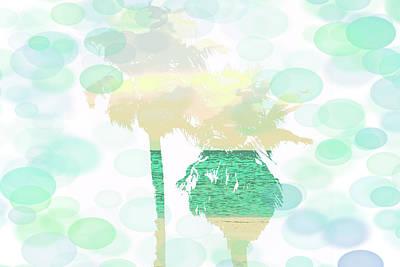 Comedian Drawings - Ocean Palms Print by Aaron Geraud