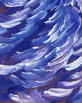 Royalty-Free and Rights-Managed Images - Ocean Wave Splash On The Shore Coastal Breeze Blues  by Irina Sztukowski