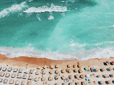 Royalty-Free and Rights-Managed Images - Ocean Waves Art Print, Aerial Blue Ocean Print, Summer Vibes Home Decor, Australia Beach Photography by Radu Bercan