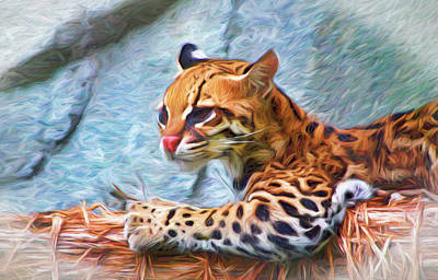 Classic Golf - Ocelot Painted 2 by Judy Vincent