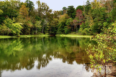 Photograph - October Color At Mountain Island Lake by Amy Dundon