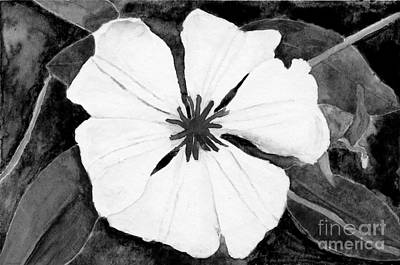 Thomas Kinkade - Ode to Georgia 3 Clematis in Black and White by Conni Schaftenaar