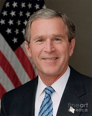 Stellar Interstellar Royalty Free Images - Official portrait of President George W Bush Royalty-Free Image by Eric Draper
