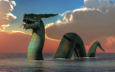 Abstract Animalia - Ogopogo by Daniel Eskridge