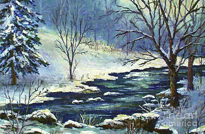 Painting - Ohio Winter by Lou Ann Bagnall