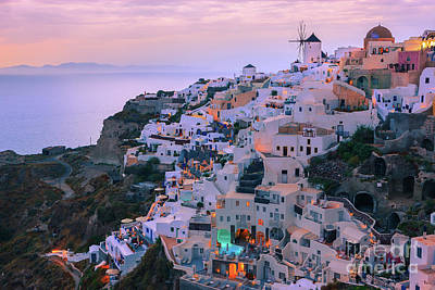 Photograph - Oia Sunset, Santorini, Greece by Henk Meijer Photography