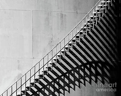 Photograph - Oil Storage Tank Shadow Stairs by Pete Klinger