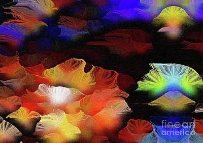 Mixed Media - OKeeffian Petals Triptych Print Number 1 Desert Rose Epiphany  by Aberjhani