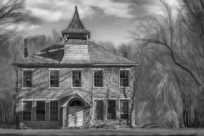 Katharine Hepburn - Old Barrack School 2 BW by Jim Love