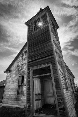 Catch Of The Day - Old Church in Black and White by Matt Hammerstein