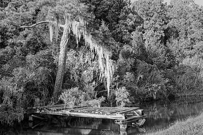 Lovely Lavender - Old Dock and Spaish Moss - Hobucken North Carolina by Bob Decker