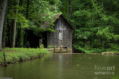 Thomas Kinkade - Old Grist Mill Georgia by Mitch Shindelbower