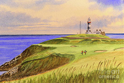Recently Sold - Sports Royalty-Free and Rights-Managed Images - Old Head Golf Course Ireland Hole 4 by Bill Holkham