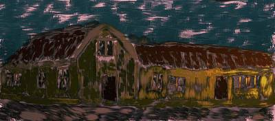 Comic Character Paintings - old house #K1 by Leif Sohlman