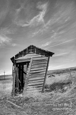 City Scenes - Old outhouse in black and white by Jeff Swan