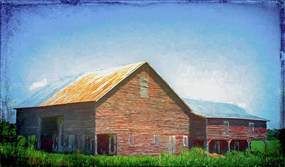 Popular Rustic Neutral Tones - Old Red Barn by David Beard