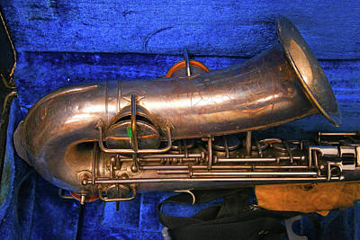 Travel - Old Saxophone In Case by Robert Tubesing