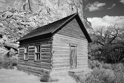 1-war Is Hell Royalty Free Images - Old school house at Capital Reef Utah black and white Royalty-Free Image by Jeff Swan