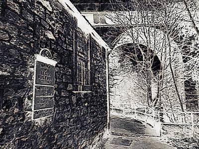 Thomas Kinkade - Old Stone Bridge and Archway pr005 by Douglas Brown