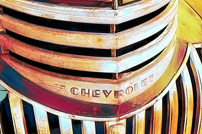Lake Life - Old Truck Grill Close Up by Ann Powell