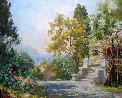 Colorful Button - Old Villa by Volodymyr Klemazov