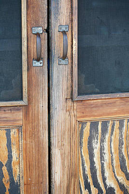 Little Mosters - Old Wooden Doors with Screens by Marilyn Hunt