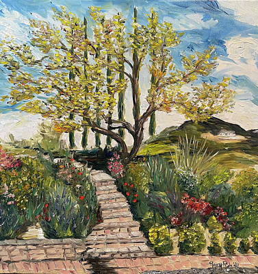 Painting - The Olive Tree at Gershon Bachus Vintners by Roxy Rich