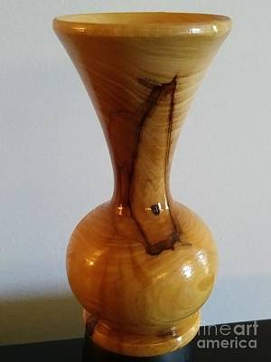 Just Desserts - Olive Wood Vase by Karen Tauber