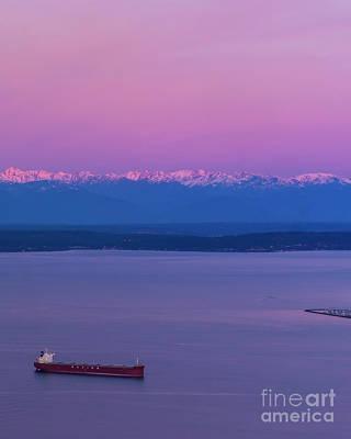 Latidude Image - Olympic Mountains Sunrise 3 by Mike Reid