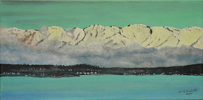Painting - Olympic Mts by Terry Frederick