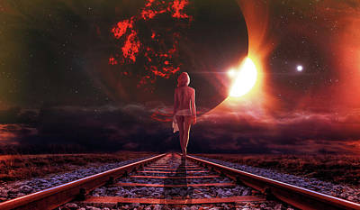Surrealism Digital Art - On her way by Mihaela Pater