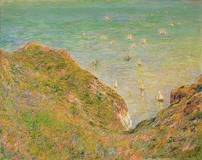 Watercolor Alphabet - On the Cliff at Pourville, Bright Weather by Celestial Images