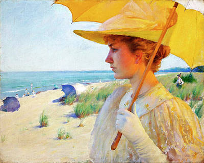 The Champagne Collection - On the Shores of Lake Erie 1893 by Charles Courtney Curran 1861 1942 by Artistic Rifki
