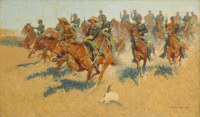 Royalty-Free and Rights-Managed Images - On the Southern Plains - Frederic Remington by War Is Hell Store