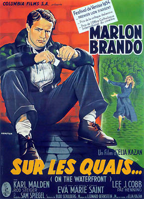 Royalty-Free and Rights-Managed Images - On the Waterfront, with Marlon Brando, 1954 by Stars on Art