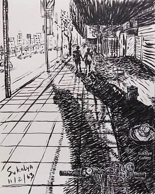 Drawing - On The Way by Sukalya Chearanantana