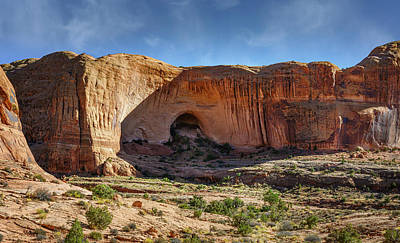 Abstract Water - On the Way to Corona Arch Moab Utah by Joan Carroll