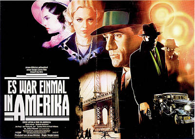 Mixed Media Royalty Free Images - Once Upon a Time in America French movie poster 1984 Royalty-Free Image by Stars on Art
